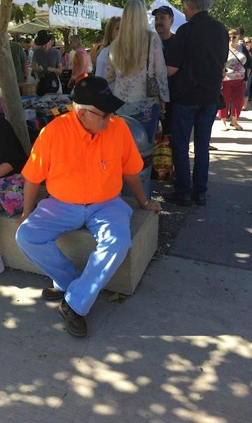 Santa Fe market shoppers Wolfe
